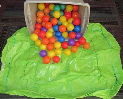 "Large Inflatable Green Ball Pit W/ 100 Soft Plastic Balls 46 X 32"", Little Tikes"