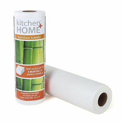 Bamboo Paper Towels - Heavy Duty Eco Friendly Machine Washable Reusable Sheets