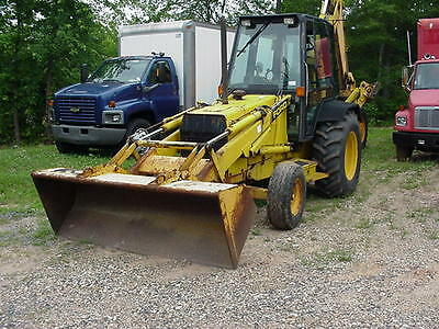 1992 Ford 555C Loader Backhoe Diesel Cab 1 Owner
