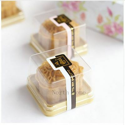 Plastic Cake Box Single Individual PVC Box Food Gift Package Baking Pastry Pack