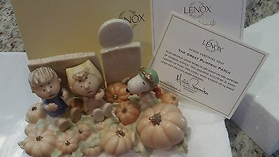 NIB Lenox The Great Pumpkin Patch Snoopy Charlie Brown 2006 40thn Anniversaryty