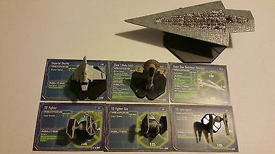 Star Wars Miniatures Starship Battles Imperial 6 Mini Executor Slave 1 TIE Ace