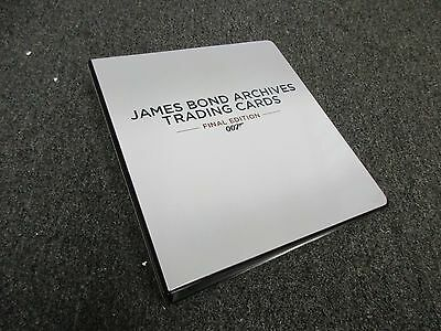 2017 James Bond Archives The Final Edition Trading Cards Album / Binder w/ Promo