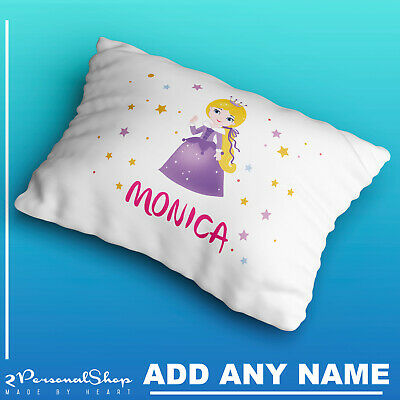 Personalised Children Princess Pillowcase Printed Gift Custom Made Print 101