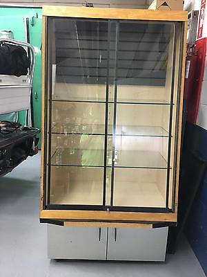 Glass Display Case Used Good Condition