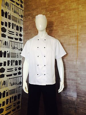 White Short Sleeve Executive Chef Jacket with Cool Mesh Back XS - XXL
