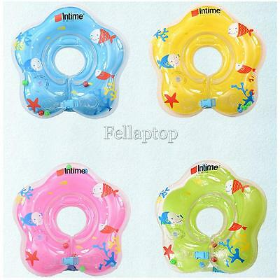 Baby Bath Swimming Neck Float Inflatable Adjustable Ring Safety Aids 1-24 Months