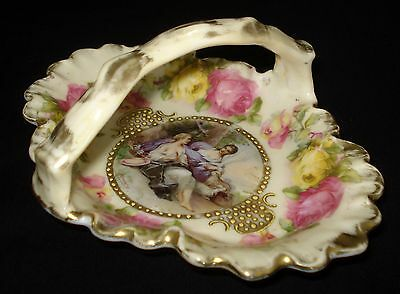 Antique Rare Oblong Royal Vienna Trinket Dish # 03 Painted By Francois Boucher