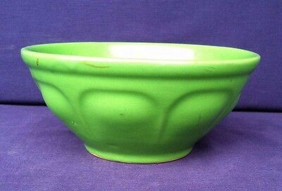 Vintage Green Bowl Mixing Kitchen Decorative Collectible Good Condition Ceramic