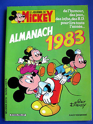 Journal de MICKEY Almanach 1983