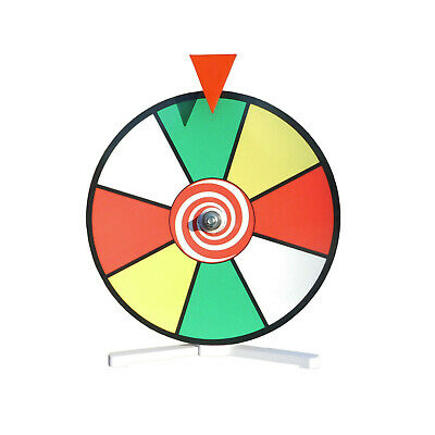Prize Wheel 12 inch Color Customize with Dry Erase Marker Spin Wheel