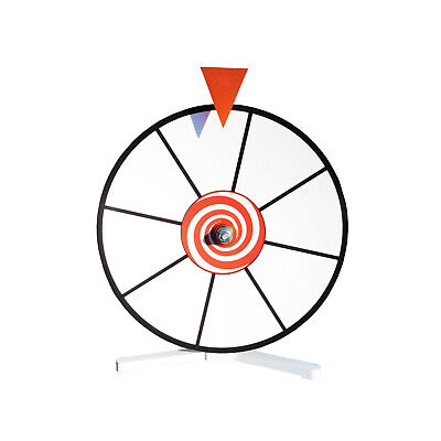 Prize Wheel 12 inch White Customize with Dry Erase Marker Spin Wheel