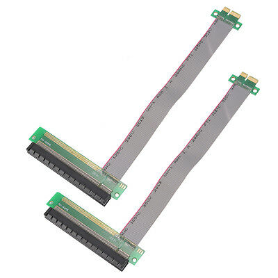 2pcs PCI Express 1x to 16x Extender Riser Card Adapter Cable for Computer AC645