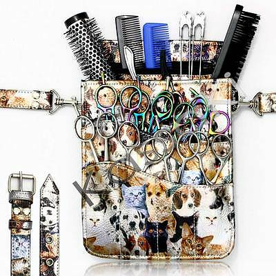 Kassaki Hairdressing Pouch Tool belt-HOLDS 9+ Scissors Combs Brushes Clips Razrs