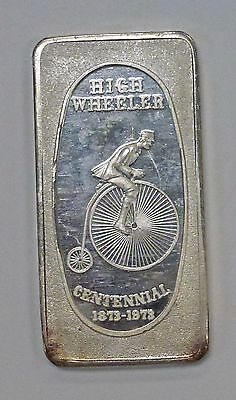 {BJSTAMPS}   HIGH WHEELER 1973 Great Lakes Mint Art BAR 1 ozt. .999 SILVER