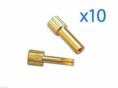 10 x GOLD PLATED DENTAL Hollow and Cross Keys FOR SCREW POSTS