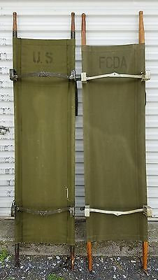VINTAGE Military Canvas stretcher gurney cot Vietnam / WW2 U.S. Army Medical Lot