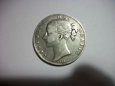 1844 Great Britain Crown Silver Circulated Coin