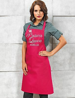 Personalised Prosecco Apron ~ Prosecco Queen Funny BBQ Kitchen Cooking Drinking