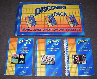 Atari 520 1040 ST STFM Mega computer Discovery Pack manuals and boxes ONLY