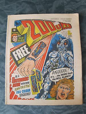 2000 A.D. prog 2. First appearance of Judge Dredd 5th march 1977  2000ad