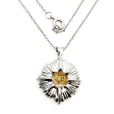 Wish Rings Sterling Silver Starburst Pendant Necklace Made in USA