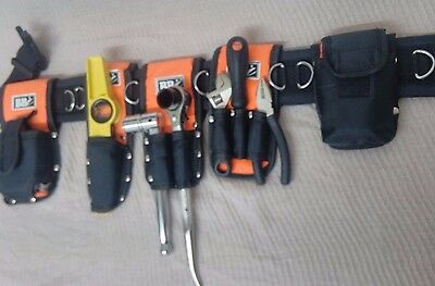 Tools Belt Scaffold Nylon Padded 8in1- Tripple + Double Spanner- Safety Lanyard