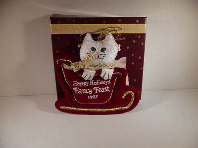 Fancy Feast Christmas 1997 Cat in Sleigh - Original Box