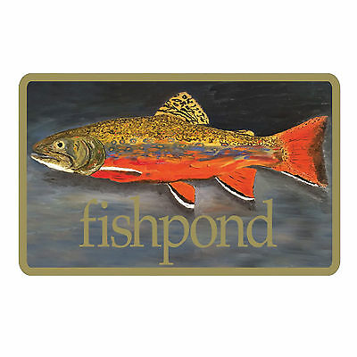 "Fishpond Brookie Sticker 5"" Decorative Bumper Fly Fishing"