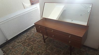 1970's Vintage Avalon Mid Century Dressing Table with Mirror