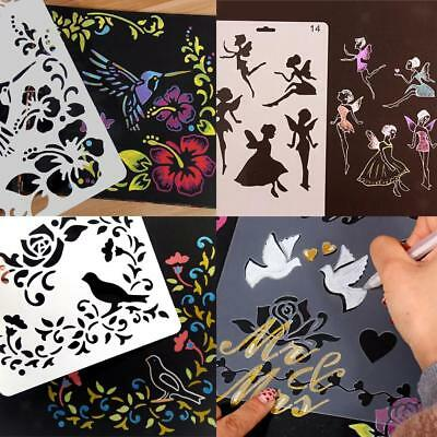 Plastic Children Toys Drawing Template Stencils Rulers Painting Tools