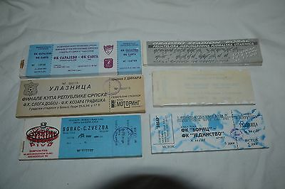 Vintage Lot of 6 1990's Football Ticket Blocks from Russian Federation