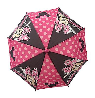 """Minnie Mouse Pink/Red and Polka Dots """"oh so MINNIE!"""" Girls Umbrella"""