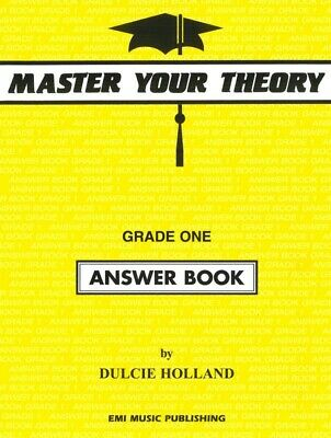 "Master Your theory Grade 1 / One ""Answer Book"" Dulcie Holland E54519 NEW"