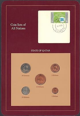 {BJSTAMPS} Coin Sets of All Nations State of Qatar BU