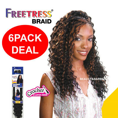 "(6PACK DEAL)Deep Twist Bulk 22"" - Freetress Synthetic Crochet Braiding Hair"