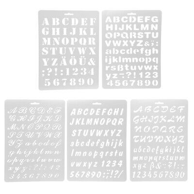 Multi Pattern Writing Letter Edge Décor Drawing Template Stencils Drawing Craft