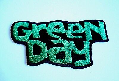 1x Green Day Patch Embroidered Cloth Applique Badge Patches Iron Sew On