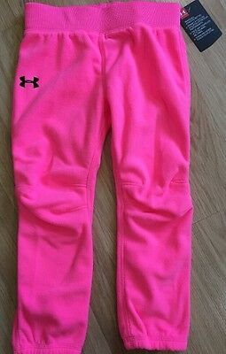 Under Armour Fleece Pants Baby Toddler Size 3T Bright Pink NEW!!