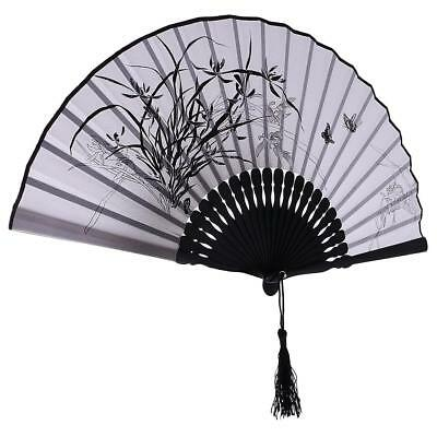 Bamboo Silk Chinese Japanese Hand Held Foldable Fan Wedding Party Decors #7
