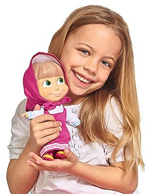 NEW Masha and The Bear 23cm Masha Doll Can Talk and Sing Kids Girls Toys Doll