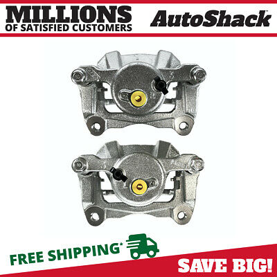 Pair 2 of Front New Brake Calipers Fits 03-08 Pontiac Vibe Toyota Corolla Matrix