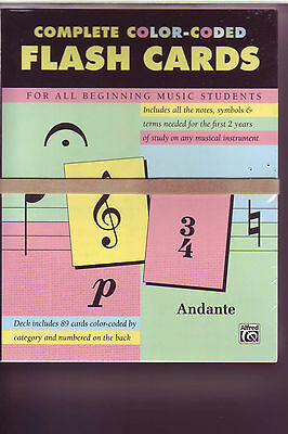 Complete Color Coded Flash Cards For all Beginning Music Students - Alfred 12061