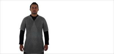 """Butted Chain Mail T-Shirt 48"""" Chest, Suitable for Cosplay and Larp"""