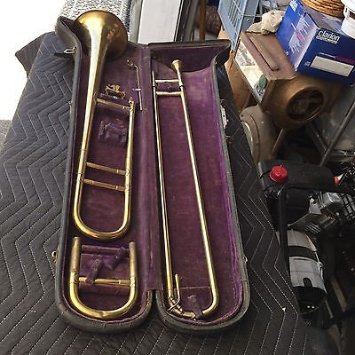 Estate Found Vintage Imperial Slide Trombone With Case In Good Condition