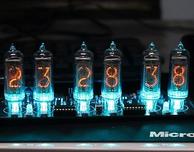 No Tubes - IN-14 NIXIE TUBE CLOCK WITH REMOTE AND ALARM - DIY Soldering Kit