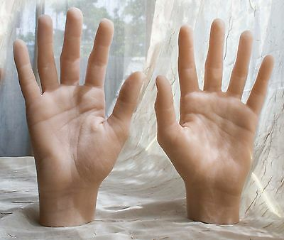 Pair of Female Silicone Mannequin Hands - Display Model Art rop