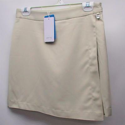 New Womens Size US 4 PING beige polyester golf skorts