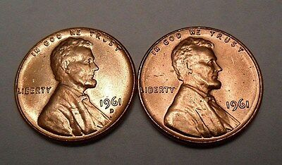 1961 P & D Lincoln Cent / Penny Set  *BU - MS RED*  **FREE SHIPPING**