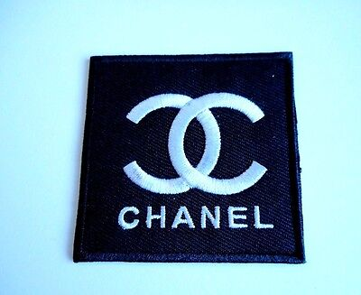 1x Chanel Logo Patch Embroidered Cloth Applique Badge Patches Iron Sew On